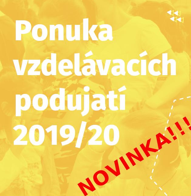 Ponuka vzdelávacích podujatí 2019/20